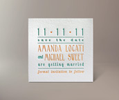 amanda letterpress invitation