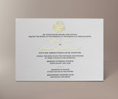 angela letterpress invitation
