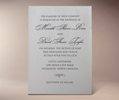 anne letterpress invitation