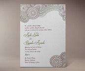 anshi letterpress invitation