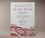 arti letterpress invitation
