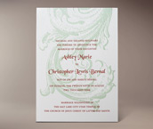 ashley letterpress invitation