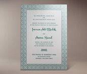 asma letterpress invitation