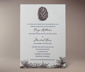 aspen letterpress invitation