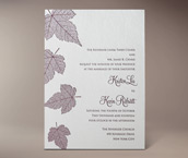 autumn letterpress invitation