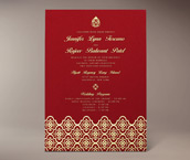avani letterpress invitation