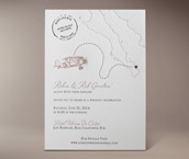 baja letterpress invitation