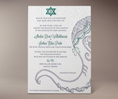 baraat letterpress invitation
