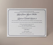 belle mer letterpress invitation