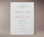 black tie letterpress invitation