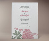 blume letterpress invitation