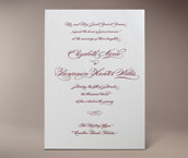 burgues letterpress invitation
