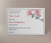 calliandra letterpress invitation