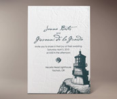 cape cod letterpress invitation