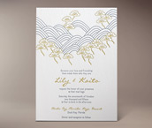 chika letterpress invitation