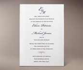classic monogram letterpress invitation