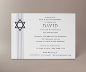 david letterpress invitation