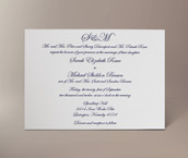 ellen letterpress invitation