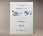 emily letterpress invitation