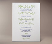 evelyn letterpress invitation