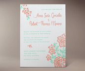 fiesta letterpress invitation