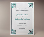 filigree letterpress invitation