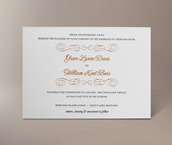 grace letterpress invitation