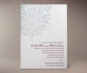 isabella letterpress invitation