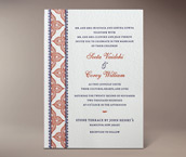 jasmin letterpress invitation