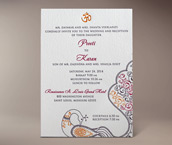 jessica letterpress invitation