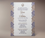 jivika letterpress invitation