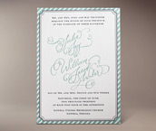 joy letterpress invitation