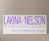 lakina letterpress invitation