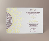 lalita letterpress invitation