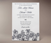 mantilla letterpress invitation