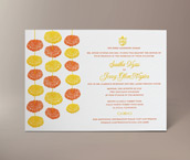 marigold letterpress invitation