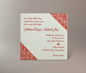 meera letterpress invitation