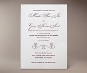 micaela letterpress invitation