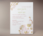 mora letterpress invitation