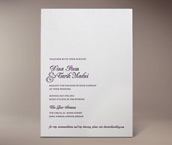natalie letterpress invitation