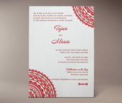 neha letterpress invitation