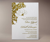 rana letterpress invitation