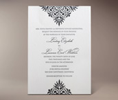 roco letterpress invitation
