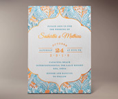saikirthi letterpress invitation