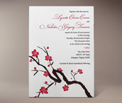 sakura letterpress invitation
