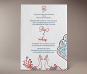 sarah letterpress invitation