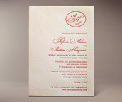 stephanie letterpress invitation