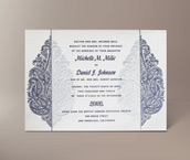 sunita letterpress invitation
