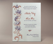 teng letterpress invitation