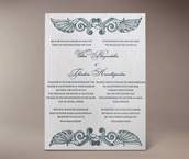 theodora letterpress invitation